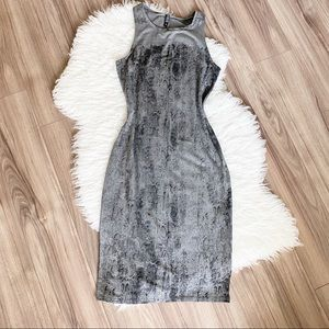 Cotton-on Snakeskin bodycon dress
